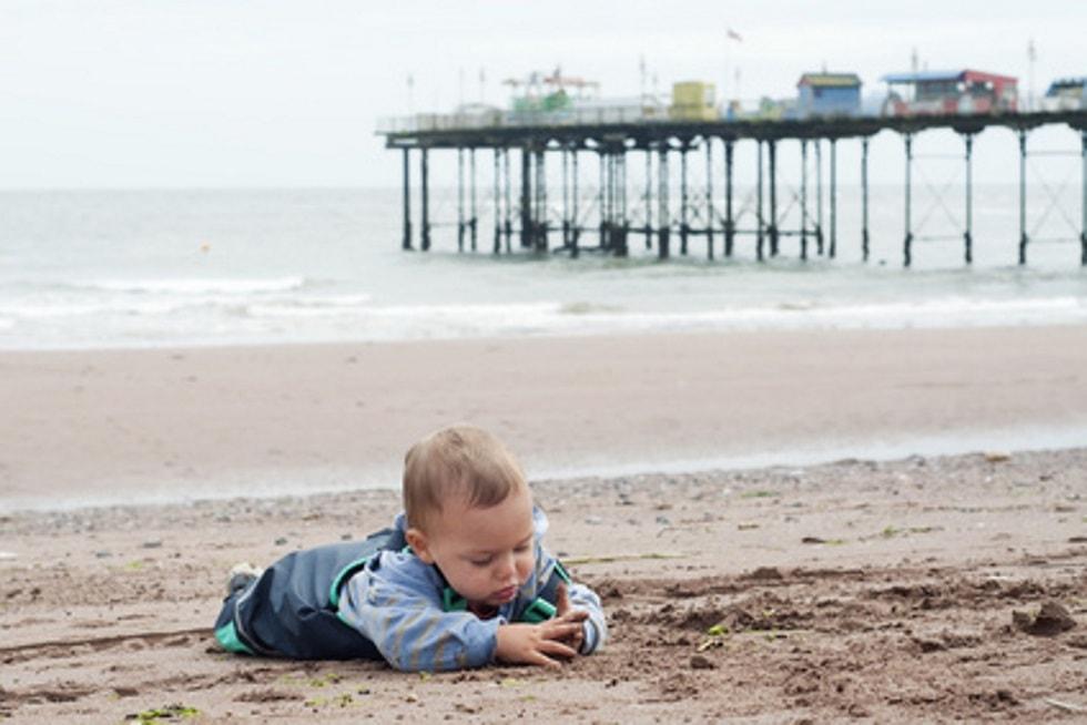 Charlie on beach