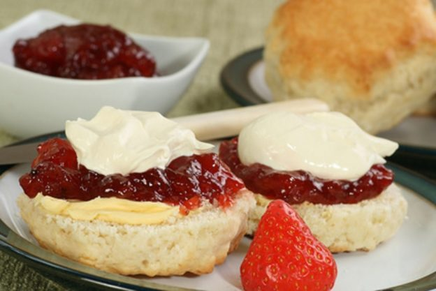 Devonshire cream scone
